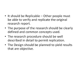 Features Of Good Research Design Features Of A Good Research Study Ppt Download