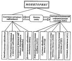 Реферат Методы контроля загрязняющих веществ в объектах  Цель экологического мониторинга информационное обеспечение управления природоохранной деятельностью и экологической безопасностью рис 1