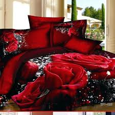 gothic bedding sets red rose queen king bedding set flower print comforter set cotton gothic king gothic bedding