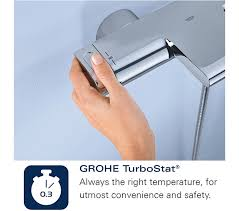 grohe 1000 thermostatic bath shower mixer. additional image of grohe grohtherm 1000 cosmopolitan thermostatic bath shower mixer tap chrome