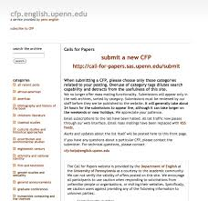 Screenshot of UPenn CFP Archive