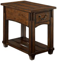 coffee table furniture image of small rectangular dark cherry wood single drawer storage rustic end tables and coffee for living room decoration