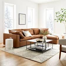 harmony modular leather 3 piece chaise
