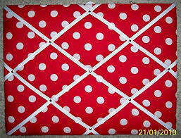 White French Memo Board New Amazon White Dots On Red Fabric Frenchmemo Board Bulletin