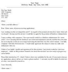 Database Administrator Cover Letter Sample Lettercv Com