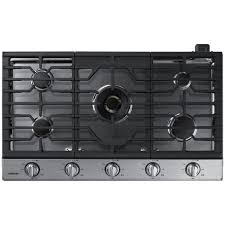 Gas Stainless Steel Cooktop Na36k7750ts Samsung Appliances 36 Gas Cooktop Stainless Airport