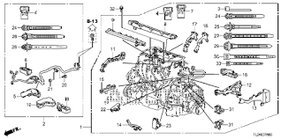 acura online store tsx engine wire harness parts 2010 tsx techtech 4 door 6mt engine wire harness diagram