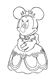Mini Mouse Coloring Page Mouse Princess Mouse Coloring Page Free