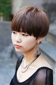 Pictures Of Cute Short Japanese Girls Hairstyle With Blunt Bangs1