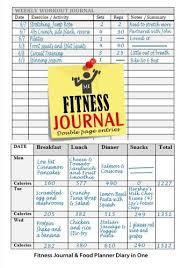 Fitness Journal And Food Planner Diary In One 12 Month Diet