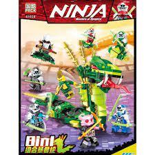 Đồ chơi lắp ráp lego Ninjago season phần 12 mới nhất Ninja xếp hình rắn  xanh lá cây khổng lồ PRCK 61039 trọn bộ 8 ...