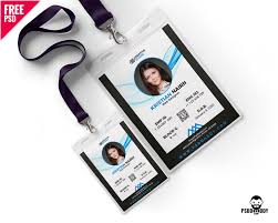 Company Id Card Template Free Office Photo Identity Card Template Psddaddy Com