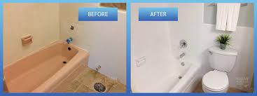 bathroom resurfacing. Bathroom Refinishing Before After Resurfacing D
