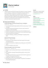 Production Manager Resumes Product Manager Resume Templates 2019 Free Download
