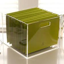 full image for desktop file box target clear acrylic table top with lid home office organization