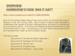 dbq document based questions ppt video online  overview hammurabi s code was it just
