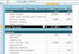 financial statement template for excel professional income statement template excel xls excel xls