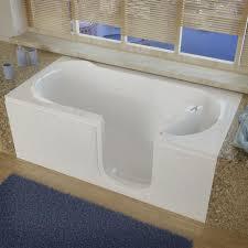 meditub 60 w x 30 d white soaking walk in bathtub right