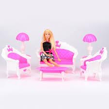 barbie doll house furniture. 6 PCS Dollhouse Furniture Ruang Tamu Sofa Meja Plastik Set Aksesoris Untuk Barbie Doll Hadiah Terbaik House
