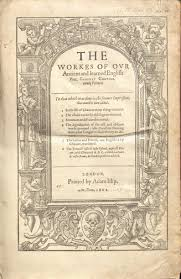 frontispiece of geoffrey chaucer s the works of our ancient and learned english poet 1602