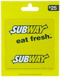gift card subway photo 1