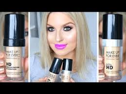 first impression review parison make up for ever hd vs ultra hd