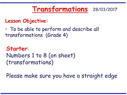 revision of all four transformations