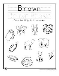 Learning Colors Worksheets for Preschoolers Color Brown Worksheet ...