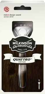 Бритва мужская Wilkinson Sword <b>Quattro</b> Titanium Vintage, 1 ...