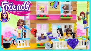 lego friends friendship house converted fire station part 1 build review silly play kids toys