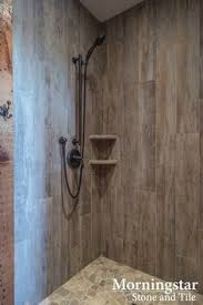 rustic bathroom tile designs.  Bathroom Shower Stall With Woodlike Tile That Has A Rustic Yet Modern Feel Inside Rustic Bathroom Tile Designs W