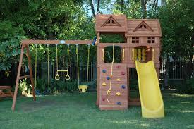 exterior cool children outdoor wooden playhouses