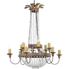 niermann weeks iron and crystal chandelier for home lighting ideas