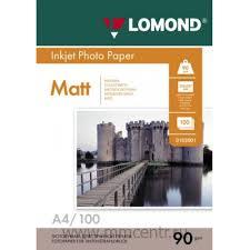 Купить <b>Фотобумага LOMOND</b> (<b>А4</b>, <b>90г/м2</b>, 100л) МАТОВАЯ в ...