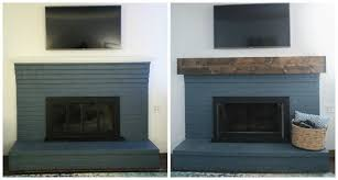 chunky rustic fireplace mantel before and after