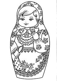 Matroesjka Popje Kleurplaat Maroeska Borduren Voorbeeld