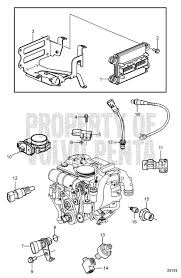 volvo penta exploded view schematic electronic engine control v8 exploded view schematic