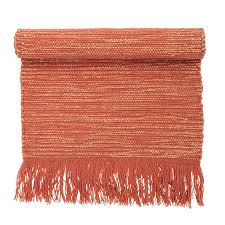 2 x 5 rug 3 1 area rugs wool w fringe orange