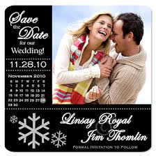 Christmas Wedding Save The Date Cards Winter Save The Date Magnets