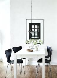 white table black chairs room with a view print by coco cky white dining table with white table black chairs high top dining
