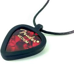 pickbandz guitar pick necklace guitar pick holder just pop in your custom guitar picks