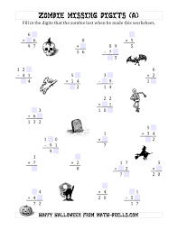 Zombie Missing Digits (A) Halloween Math Worksheets... Halloween Math Worksheets. Full Preview