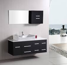 Bathroom vanity design Hanging Design Element Springfield single 53inch Modern Wall Mount Bathroom Vanity Set Espresso Bathvanityexpertscom Design Element Springfield single 53inch Modern Wall Mount