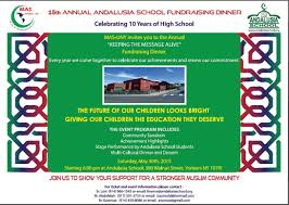 fundraising dinner flyer andalusia islamic school fundraising dinner flyer
