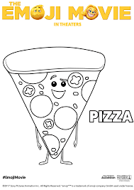 Small Picture The Emoji Movie Pizza Coloring Page Free Movie Coloring Pages