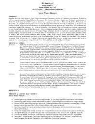 WilliamLord Project Manager Resume 1-18. William Lord 89-16 212 Place,  Queens Village, NY 11427 Tel: 917 ...