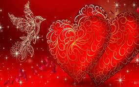 Love Red Heart Bird Love Wallpapers Hd ...