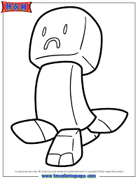 Sad Creeper Coloring Page H M Coloring Pages