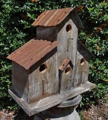 Birdhouse Rustic Ranch Birdhouse Cabin Birdhouse Western Birdhouse