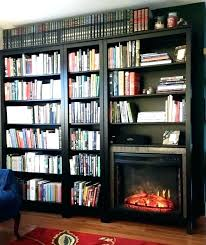 electric fireplace with bookshelves brilliant design regarding idea 19